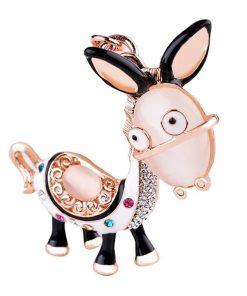 Llavero de dibujo animados de un burro