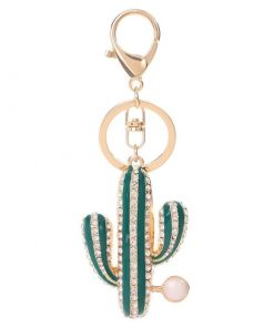 Llavero en forma de cactus para mujer