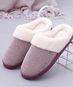 Pantuflas de algodón para invierno