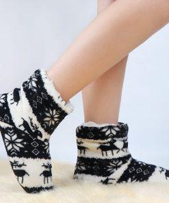 Pantuflas tipo calcetin para mujer