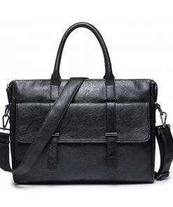 Portaobjetos de tela tipo piel con diseño de maletín de negocios