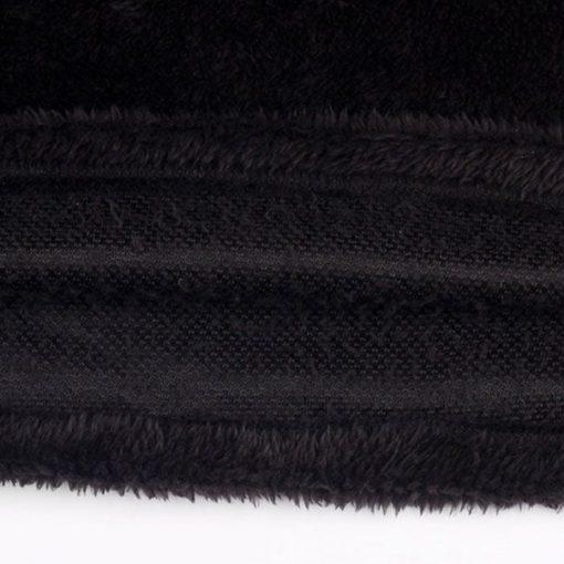 Sudadera de lana de manga larga con costuras de encaje para mujer