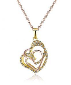 Collar con diseño de corazón para mujer