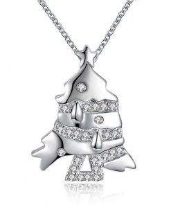 Collar con un diseño de árbol de navidad para mujer