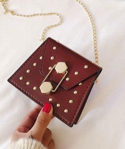 Bolsa mini cuadrada pequeña tipo crossbody