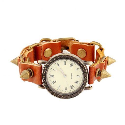 Reloj de pulsera de cuero con colgante Rivert retro