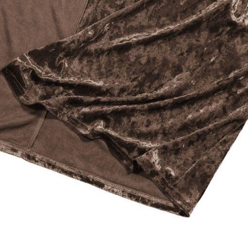 Saco largo de tela de terciopelo vintage